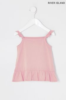 River Island Pink Light Frill Cami