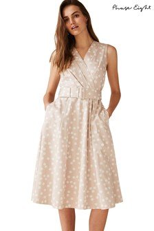 Phase Eight Nude Polly Spot Dress