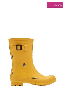 Joules Yellow Molly Welly Mid Height Welly