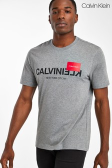 Calvin Klein Grey Reverse Logo T-Shirt
