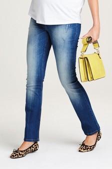 ג'ינס בגזרת מגף להריון