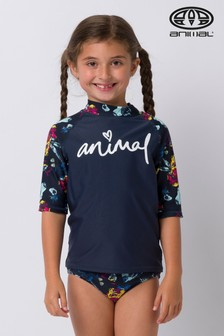 Animal Blue Paddle Rash Vest Suit