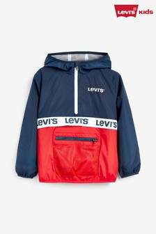 Levi's® Kids Navy Half Zip Windbreaker Jacket
