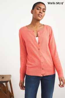 White Stuff Coral Lola Crew Neck Cardigan