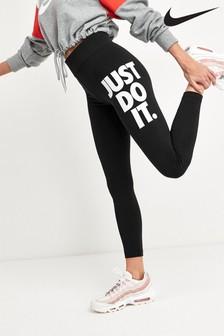 Nike Sportwear Black Leg-A-See Logo 7/8 Leggings