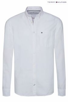 Tommy Hilfiger White Engineered Oxford Shirt