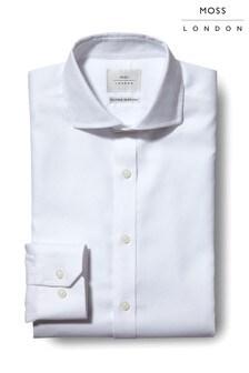 Moss London Premium Extra Slim Fit Textured Zero Iron Shirt