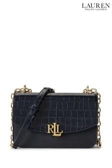 Lauren Ralph Lauren Navy Leather Madison Crossbody Bag