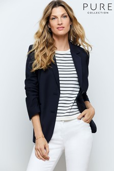 Pure Collection Blue Tailored Blazer