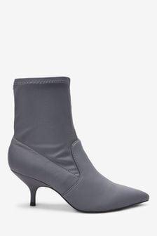 Forever Comfort® Kitten Heel Sock Boots