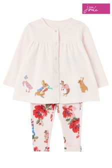 Joules Pink Peter Rabbit Jemima Top And Trouser Set