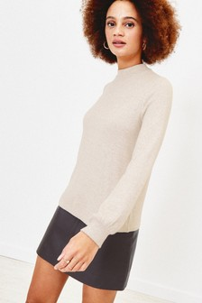 Oasis Natural Balloon Sleeve Knit Jumper