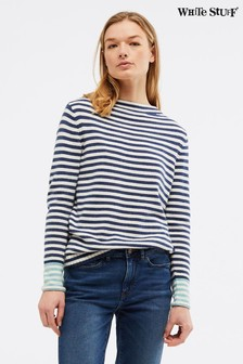 White Stuff Blue Sunny Stripe Jumper