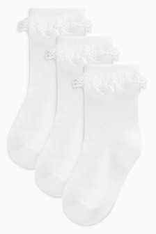 Lace Socks Three Pack (Younger)