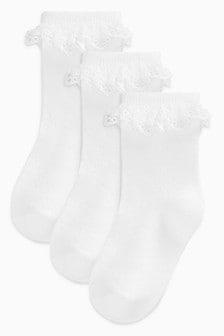Набор из трех пар кружевных носков (Младшего возраста)