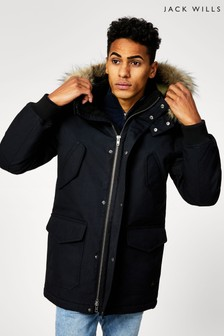 Jack Wills Black Linchfield Parka