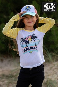 Animal White Holiday Long Sleeve T-Shirt