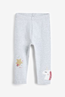 Unicorn Embroidered Leggings (3mths-8yrs)