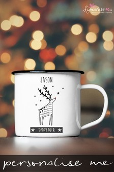 Personalised Dad Reindeer Mug by Signature PG