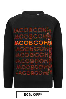 Jacob Cohen Boys Black Cotton Sweater