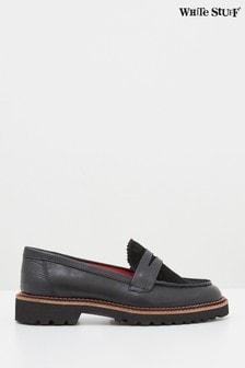 White Stuff Black Alpine Loafers