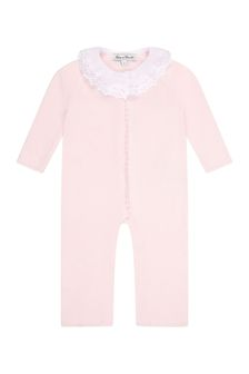 Tartine et Chocolat Baby Girls Pink Cotton All-In-One