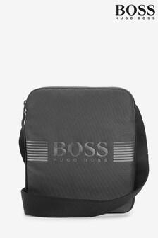 BOSS Grey Pixel Structured Envelope Bag
