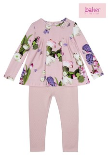 baker by Ted Baker Printed Top/Legging In Light Pink