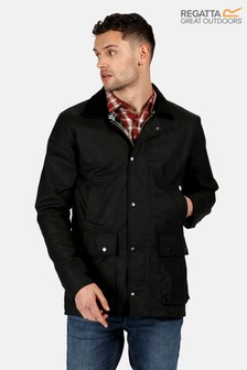 Regatta Black Country Wax Jacket