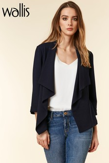 Wallis Blue Waterfall Jacket