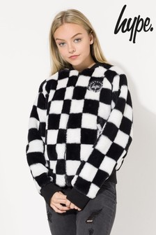 Hype. Disney™ Minnie Checkerboard Kids Crop Jacket