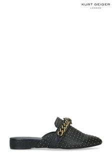 Kurt Geiger London Black Chelsea Flat Leather Loafers