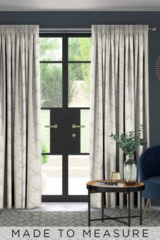 Hampson Brass Natural Made To Measure Curtains