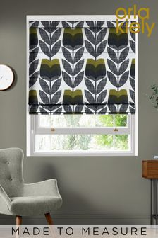 Rose Bud Moss Green Made To Measure Roman Blind by Orla Kiely