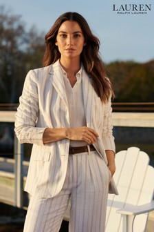 Lauren Ralph Lauren® Cream Stripe Linen Grayden Blazer