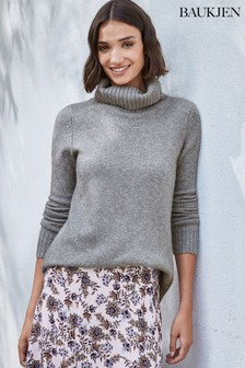Baukjen Grey Erica Roll Neck Jumper