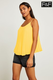 F&F Yellow Pleated Cami