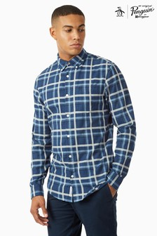 Original Penguin® Heathered Brushed Cotton Long Sleeve Shirt