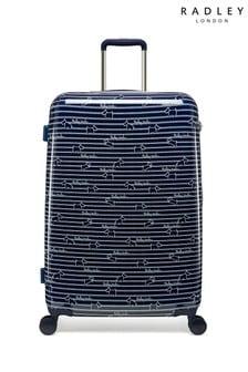 Radley Dog Stripe Large Hard Shell Suitcase