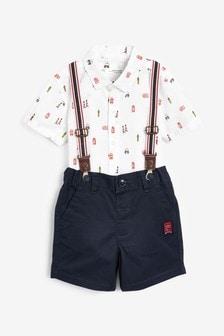 London Shirt And Shorts Set (3mths-7yrs)