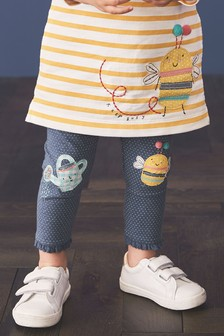Bee Embroidered Leggings (3mths-7yrs)