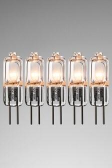 5 Pack 10W Halogen G4 Bulb