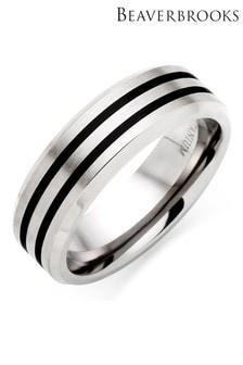 Beaverbrooks Titanium Rhodium Ring