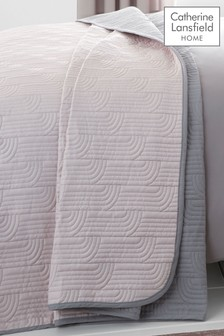 Embroidered Reversible Bedspread by Catherine Lansfield