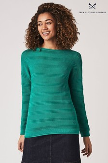 Crew Clothing Green Salcombe Jumper