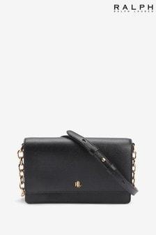 حقيبة متعددة الاتجاهات Winston جلد أسود من Ralph Lauren