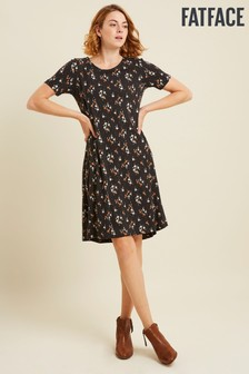 FatFace Black Simone Star Floral Dress
