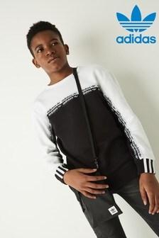 adidas Originals Black/White R.Y.V Crew Sweater