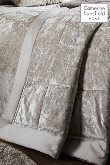 Crushed Velvet Bedspread by Catherine Lansfield