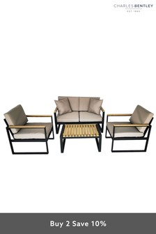 Cast Aluminium Lounge Set by Charles Bentley